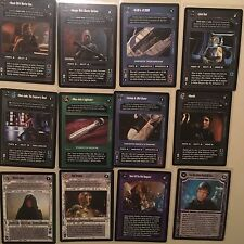 Decipher Star Wars CCG Enhanced Jabba's Palace Set Mint Unplayed Mara Jade Luke