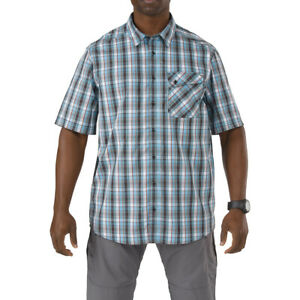 5.11 Tactical Men's Single Flex Covert Short Sleeve Shirt Concealed Carry