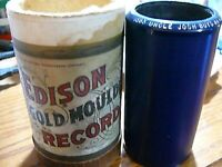 RARE 1908 Edison PHONOGRAPH BLUE AMBEROL WAX CYLINDER RECORD:1583 UNCLE JOSH