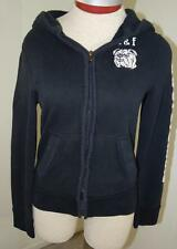 Abercrombie Kids sweatshirt boys size L large black hoodie muscle bulldog