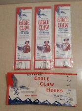 Vintage Eagle Claw Hooks Sizes 4 & 12 NIP