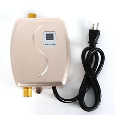 New Listing3000W Electric Tankless Instant Hot Water Heaters Kitchen Washing Faucet Gold