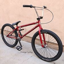 """2017 WE THE PEOPLE BMX BIKE ATLAS 24"""" CANDY RED BICYCLE FIT CULT SE HARO SUBROSA"""