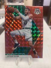 2019-20 Mosaic Jayson Tatum Red Prizm Refractor SP Boston Celtics
