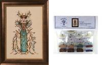 MIRABILIA Cross Stitch PATTERN & EMBELLISHMENT PK Cathedral Woods Goddess MD164