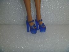 Barbie Shoes -Translucent Royal Blue Extreme Platform Heel Pole Style Stiletto