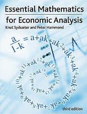 Essential Mathematics for Economic Analysis, Sydsaeter, Prof Knut & Hammond, Pro