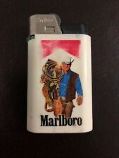 Vintage Genuine Tobacco Cigarette Marlboro Cowboy Advertising Torch Lighter