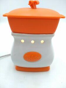 Scentsy Velata Fondue Warmer Orange And White