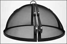 """42"""" 304 Stainless Steel Hinged Round Fire Pit Safety Screen"""