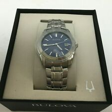 Bulova Blue Dial Stainless Steel Men's Watch 96G47