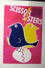 "Scissor Sisters Concert Poster Philly ORIGINAL 15"" X 22"" 3/2/07 Silkscreen!"