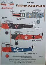 Realista calcomanías Fokker D. VII Pt.5 1/48 para Eduard/Roden * envío Gratis Con Kit *