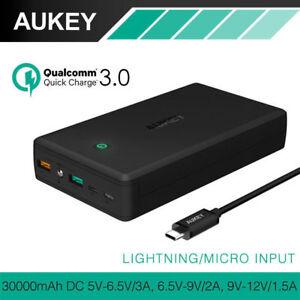 10000-30000mAh Lightning Portable Power Bank Quick Charger 3.0 Micro USB Type-C