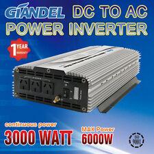 Power Inverter Large shell 3000W(6000W Max) 12V-240V +Load Display LED