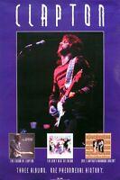 Eric Clapton 1995 Three Album Catalogue Promo Poster