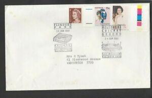 1991 FLINDER'S PARK / MELBOURNE CRICKET GROUND commemorative postmark