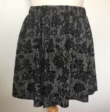 Primark Atmosphere Women's Size 8 Skirt Skater Style Black Lace Floral Pattern