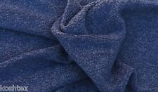 Blue Sherpa Knit Modal Blend Fleece Fabric Very Soft by Yard 1/16