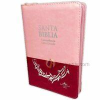 Biblia Letra Grande con Indice y Cierre Reina Valera 1960 duotono rosa y fucsia
