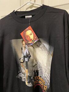 Vintage Tomb Raider Mens Size XL Black Lara Croft Dead Stock Movie Promo Shirt