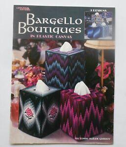 Leisure Arts Leaflet~~Bargello Boutiques in Plastic Canvas