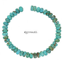 """7.8"""" Genuine Chinese Turquoise Rondelle Beads 8mm Sky Blue #82207"""