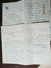 LONDON ESTATE AGENT/WORCESTER MAN HANDWRITTEN CORRESPONDENCE DATED FEB 1899