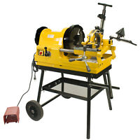 "Steel Dragon Tools® 6790 1/2"" - 4"" Pipe Threader Threading Machine with Cart"