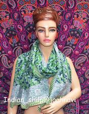 Hand Block Long Sarong Dupata Stole Scarf Gift Indian Print Fabric Women Cotton
