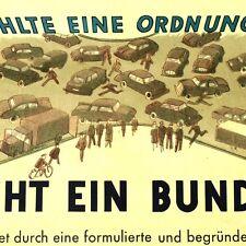 BUNDES GESETZ Düsseldorf um 1960 Alte Lehrtafel Plakat BRD Politik Bundestag TOP