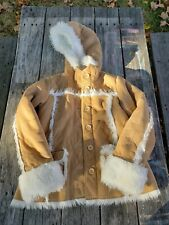 Gap ~ Girls Tan Faux Sherpa Trimmed Coat ~ Size Xl or 12 Free Shipping