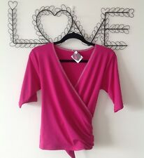 Yoga, Wrap Top Size LARGE - BNWT High quality LIMITED EDITION Pink
