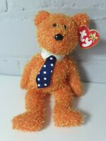 TY BEANIE BABIE baby * PAPPA * THE FATHERS DAY ORANGE TEDDY BEAR june 15th 2002