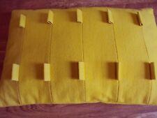 1 Dekokissen Kissenhülle gelb 40 x 60 cm Reißverschluß 68% Wolle 32% Polyamid