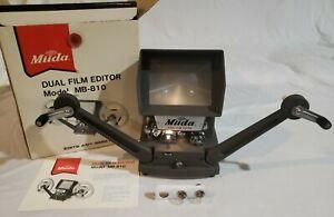 Miida Dual Film Editor Model MB-810 8mm Editor In Box + Extra Bulbs