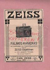 JENA, Werbung 1908, Carl Zeiss Jena Palmos-Kameras