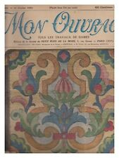 MON OUVRAGE N° 256  DE 1933 BE- broderie tapisserie tricot crochet mode
