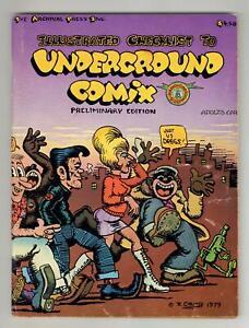 Illustrated Checklist to Underground Comix #0 VG+ 4.5 1979