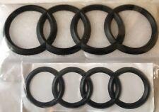Black Matte Front Grille + RareBoot Badge Ring Emblem Audi A6 Q3 Q5 Q7