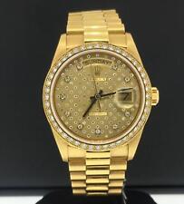 ROLEX PRESIDENT Día Fecha 36mm 18ct Oro Amarillo Diamante Dial & Engaste 18048