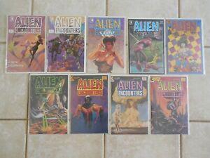Alien Worlds #7 & 8 and  Alien Encounters #1-9 Pacific/Eclipse comics  ADULT