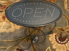 Led Open Sign, Agptek 19x10inch Led Business Open Sign Advertisement Board