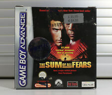 THE SUM OF ALL FEARS - NINTENDO GAME BOY ADVANCE - NEW