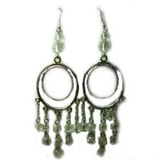 Sheer Indulgence, Rhodium Plated Hook Earrings, Glamorous Jewellery, Women 4112