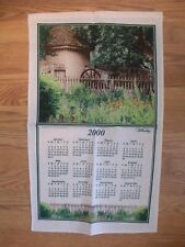 COMPLETE NEW SET 2000 WILLIAMSBURG CALENDAR TOWEL - TALLIAFERRO COLE SMOKEHOUSE