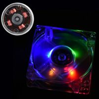 Crystal Desktop PC Computer CPU Radiator 80mm LED Cooling/Cooler Fan Universal