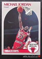 Michael Jordan 1990 Hoops #65 Chicago Bulls Basketball Card NBA
