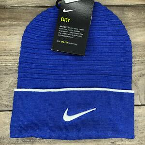Nike Dri-Fit Cuffed Beanie Stocking Cap Blue (CW6328 430) Adult 'One-Size'