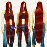 130cm Dark Red Hi_Temp Series 55cm Extra long Bang Cosplay Wigs 99DDR